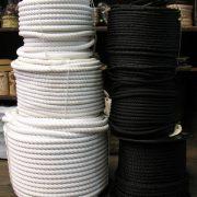 Cuerda nylon blanca y negra